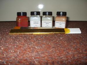 benodigheden om producten van bladgoud te voorzien